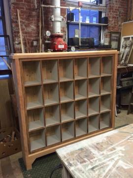 Bookcase made with large old window