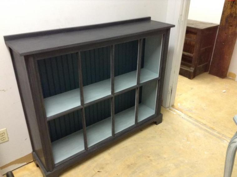 Bookcase made with old window