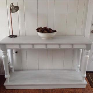 Console made with old porch columns
